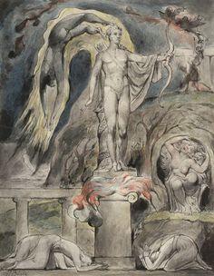 "William Blake | The Shrine of Apollo | John Milton's ""Hymn on the Morning of Christ's Nativity"", 1809"