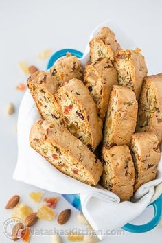 Jeweled Biscotti Recipe - THIS is the perfect holiday (or everyday!) cookie @natashaskitchen