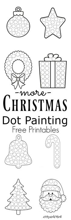 More Christmas Dot Painting {Free Printables} Free printable Christmas dot painting worksheets for kids. These work great with Do a Dot Markers or bingo markers. Preschool Christmas, Christmas Crafts For Kids, Xmas Crafts, Christmas Themes, Christmas Holidays, Crochet Christmas, Free Activities For Kids, Christmas Activities, Sorting Activities