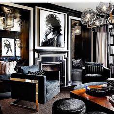 "742 Likes, 22 Comments - Ashley Stark Kenner (@ashleytstark) on Instagram: ""Love this room had to regram @jroman1964 rock n roll #inspiration #style #interiordesign #inspo…"""