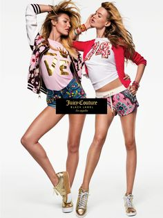 Behati Prinsloo and Candice Swanepoel for Juicy Couture SS16. #DestinationJuicy