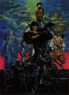 "theactioneer: ""Noriyoshi Ohrai Inindo: Way of the Ninja box art "" Arte Ninja, Ninja Art, Character Illustration, Illustration Art, Shadow Warrior, Warrior 2, Samurai Artwork, Psy Art, Fantasy Pictures"