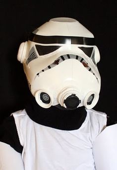 STar wars mask, from 2 milk bottles. So cool.