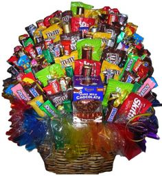 gift basket for stag and doe! I've made one before ill have to post! It was 12lbs of deliciousness! You guys can pick your fab candies!!