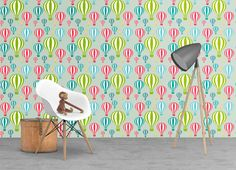 Hot Air balloons wallpaper - removable wallpaper