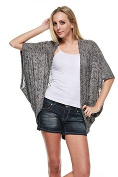 Cloud Nine Cardigan ~ Black - UTOPIA ISLAND BOUTIQUE