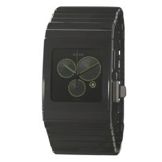 Rado Men's 'a Chronograph' Watch with Green Hands