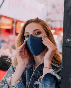 White Face Mask, Half Mask, Respirator Mask, Mouth Mask, Stay Safe, Face Masks, Poems, Stylish, Blue