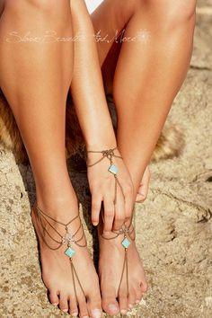 slave bracelet hand piece chain bronze by SlaveBraceletAndMore