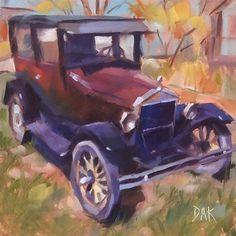"Daily Paintworks - ""Antique Ride #2"" - Original Fine Art for Sale - © Deborah Ann Kirkeeide"