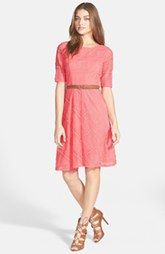 Eliza J Belted Lace Knit Dress (Petite) Nordstrom $98.00  I think I prefer a little structure, but it's whatever.