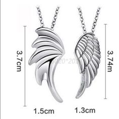 100% New, 1 Pair Couple's Wing Pendant & Necklace It Comes Directly From Factory. Jewelry Necklaces