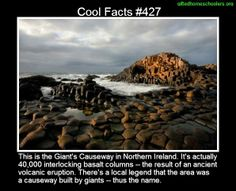 Cool facts #427  http://en.wikipedia.org/wiki/Giant's_Causeway