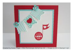 3x3 Notecard, Stampin' Up!, Love You to the Moon, Banner Blast (2014 SAB)