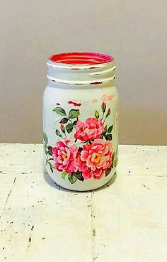 Check out this item in my Etsy shop https://www.etsy.com/listing/473773137/cottage-shabby-chic-mason-jar-pencil