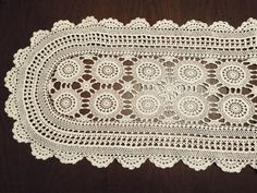 Crochet cotton table runner wedding by dianasjoy on Etsy Lace Runner, Piano Cover, Home Comforts, Crochet Handbags, Centre Pieces, Table Runners, Shabby, Cotton, Handmade