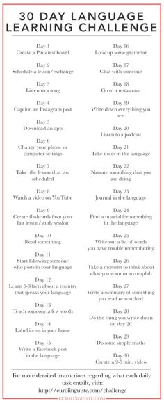 Day Language Learning Challenge - Eurolinguiste, 30 Day Language Learning Challenge - Eurolinguiste, 30 Day Language Learning Challenge - Eurolinguiste, Language Study Printable Planner - Salmon, 10 Printable Pages Portuguese Lessons, Learn Portuguese, Learn German, Learn French, Brazilian Portuguese, Study French, Portuguese Food, How To Speak French, French Verbs