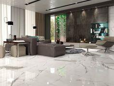 Veins have a little gray tinge but it's still beautiful 🥰 Living Room Flooring, Bedroom Flooring, Living Room Interior, Home Living Room, Living Room Designs, Floor Design, House Design, Italian Marble Flooring, Modern Interior