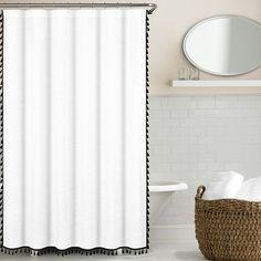 Found it at AllModern - 100% Cotton Tassel Shower Curtain