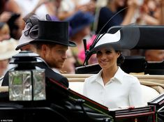 The new Duchess of Sussex looked relaxed as she took part in her first traditional carriag...