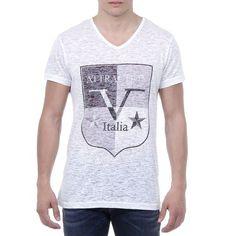 V 1969 Italia Mens T-shirt Short Sleeves V-Neck White ALEXANDER