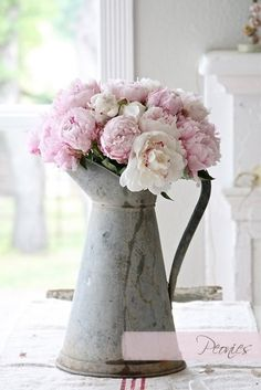 Jug of peonies... perfect for May and June #weddings