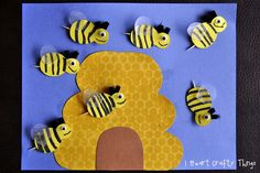 B is for Bee and Bubble Wrap Bee Hive---Busy Bees Craft
