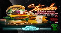 The World Famous Roswell Diner. Burger Promo : Starwalker Photography & Design : Paul Clark