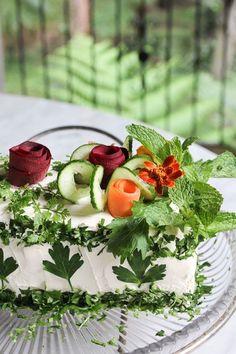 parsley leaf sanwich cake