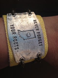 """""""Never Forget You Roots"""" Lenny & Eva Wide Cuff with Large Sentiment at B.loved Boutique www.blovedfashions.com"""