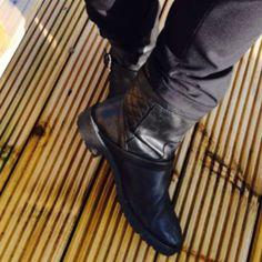 Biker booties by Linda Personal Taste, Clogs, Biker, February, Footwear, Booty, Style, Fashion, Clog Sandals