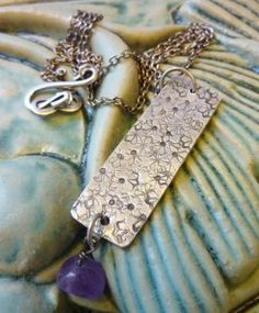 stamped abstract silver pendant - Google Search