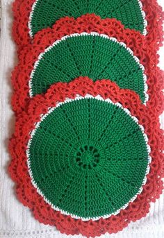 Crochet Pattern PDF Holly and Berries Afghan and Pillow Crochet Coaster Pattern, Crochet Doily Patterns, Crochet Motif, Crochet Designs, Crochet Doilies, Crochet Kitchen, Crochet Home, Love Crochet, Crochet Gifts
