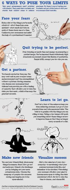 6 Ways to Push Your Limits [#infographic]  #Limits #Success