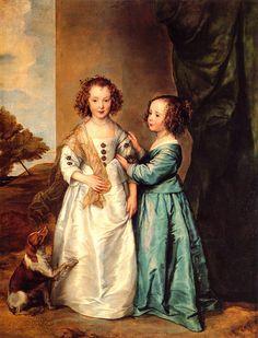 Philadelphia and Elizabeth Wharton by Sir Antony van Dyke