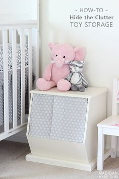 Cute Toy Storage: Hide the Clutter! A simple way to customize a toy storage bin.