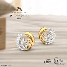 White Gold Round-Cut Diamond Stud Earrings J-K Color, Clarity) – Finest Jewelry Diamond Studs, Diamond Jewelry, Diamond Earrings, Stud Earrings, Ruby Jewelry, Clean Gold Jewelry, Simple Jewelry, Gold Earrings Designs, Designer Earrings