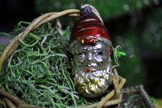 Items similar to Antique Elf Gnome Christmas ornament, vintage Christmas ornament,glass, hand painted, Great ornamen for a collection on Etsy Christmas Light Bulbs, Antique Christmas Ornaments, Gnomes, Elf, Hand Painted, Antiques, Unique Jewelry, Handmade Gifts, Victorian