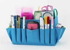 Stuff It! Great for organizing sooo many things! Comes in teal, black and pink.  www.mycleverbiz.com/AmyBender