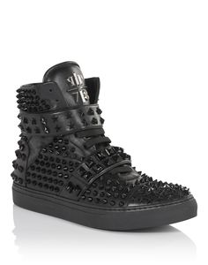 "PHILIPP PLEIN High Sneakers ""Stars"". #philippplein #shoes #"