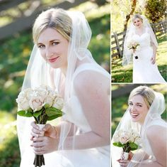 "too adorable! Megan wearing wedding gown ""Rachel"" by WToo"