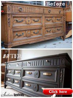 Cheap Furniture Makeover, Diy Furniture Renovation, Diy Furniture Easy, Diy Furniture Projects, Refurbished Furniture, Paint Furniture, Repurposed Furniture, Cool Furniture, Diy Projects