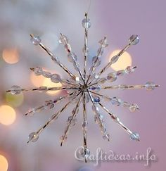 Christmas and Holiday Craft - Beaded Star Ornament