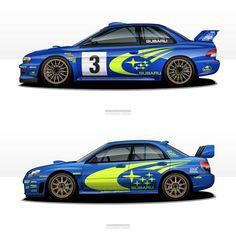Subaru WRC generations