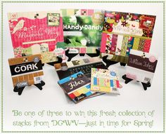You could win 8 DCWV stacks i you run right over and enter! I did! Good Luck! Friday Giveaway: DCWV