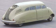 Love this car! The Stout Scarab of 1935. Credited as the world's first commercial minivan...