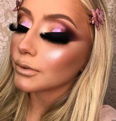 Make por Kamilla Teixeira ❤ Teal Makeup, Bold Eye Makeup, Neutral Makeup, Full Face Makeup, Makeup Inspo, Eyeshadow Makeup, Makeup Inspiration, Glamour Makeup, Beauty Makeup