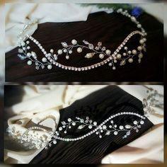 Мое новое творение  блистательный и сверкающий ободок   #annahandwellery #accessories #ручнаяработа #wedding #bridal #свадебноеукрашение #украшениедляволос #love #belarus #gomel #mozyr #украшениевприческу #веточкавприческу #свадебныеаксессуары #ободок