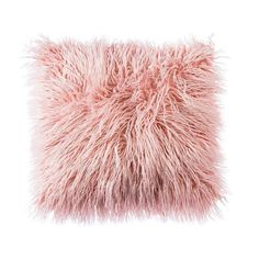 OJIA Deluxe Home Decorative Super Soft Plush Mongolian Faux Fur Throw Pillow Cover Cushion Case x 18 Inch, Pink) - Home Decor Pink Throw Pillows, Throw Pillow Covers, Accent Pillows, Toss Pillows, Decor Pillows, Decorative Pillows For Bed, Cushion Covers, Pink And Grey Cushions, Pink Fur Pillow