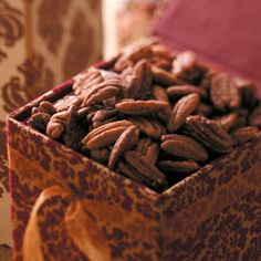 spiced pecans... I finally found a recipe that is foolproof (I didn't burn them for once!)